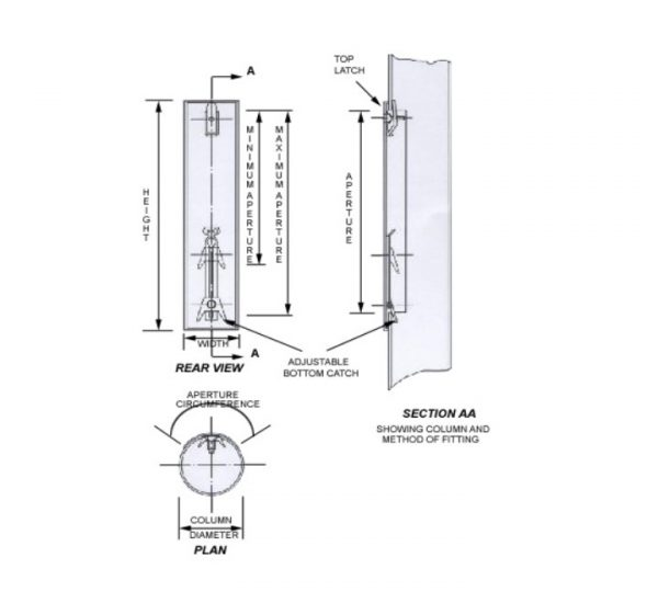 5055 Replacement Lamp Column Door