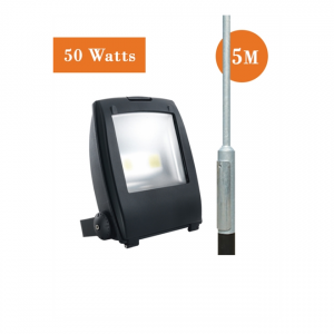 50watt LED Flood Light and 5M Root Mounted Column Package