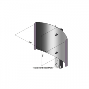 6115 Post top column Light shield