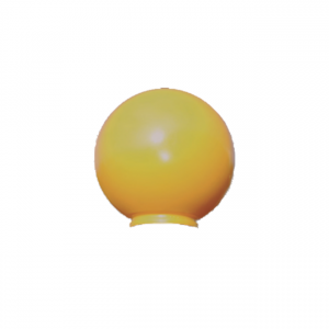 Amber Globe for AVG gallery on pedestrian crossing post