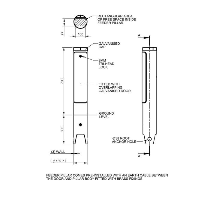 CR Cylindrical Feeder Pillar on